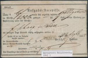 1845 Aufgabs Recepisse PESTH