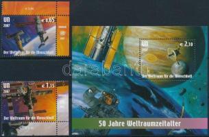2007 Űrkutatás ívsarki sor Mi 518-519 + blokk Mi 21