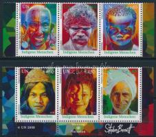 Indigenous set in stripes of 3, Bennszülöttek sor hármascsíkokban