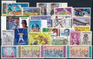 1963-1992 Baseball 24 klf bélyeg, 1963-1992 Baseball 24 stamps