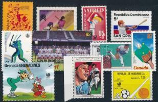 1986-1987 Baseball 11 stamps, 1986-1987 Baseball 11 klf bélyeg