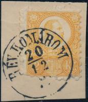 1871 2kr kivágáson / on cutting RÉV.KOMÁROM