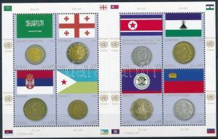 Flags and coins minisheet, Zászlók és érmek kisív