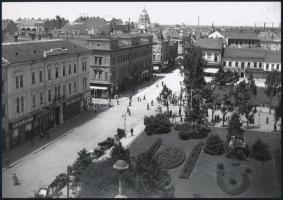cca 1930 Szegedi városképek, Kerny István (1879-1963) 5 db vintage negatívjáról készült mai nagyítás, 13x18 cm és18x25 cm