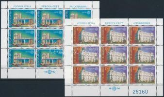 Europa CEPT: Posta épületek kisív sor Europa CEPT Postal Buildings mini sheet set