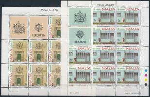 Europe CEPT: Postal Buildings mini sheet set Europa CEPT: Posta épületek kisív sor