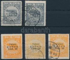 1919 Mi 76-77 színváltozatok / colour varieties
