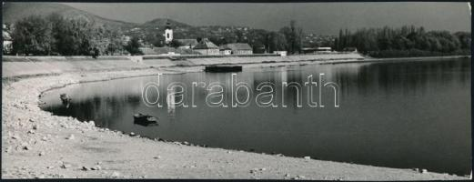 cca 1972 Zsigri Oszkár (1933-?) 3 db vintage fotóművészeti alkotása, kettő feliratozott, 9x23,5 cm és 24x18 cm