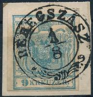 """1850 9kr HP I """"BEREGSZÁSZ"""" Signed: Ferchenbauer, 1850 9kr HP I """"BEREGSZÁSZ"""" Signed: Ferchenbauer"""