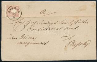 """~1860 10kr II. on cover ,,SISSEK"""" - ,,KARLSTADT"""" - Plasky, ~1860 10kr II. levélen ,,SISSEK"""" - ,,KARLSTADT"""" - Plasky"""