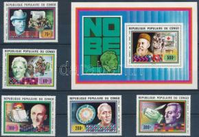 Nobel díjasok sor + blokk Nobel Prize winners set + block