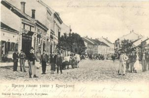 Kragujevac, Main street view with shops (EK)
