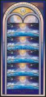 1992 Űrkutatás pár + kisív Mi 633-634