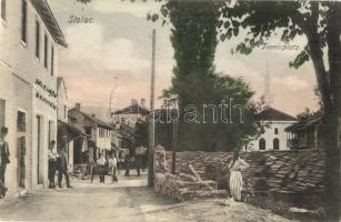 Stolac, Tennisplatz / tennis court, shop of Sulejman Behmen