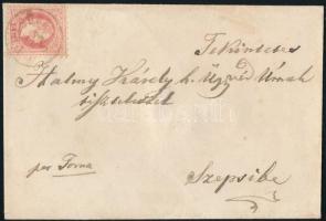 """~1870 5kr on cover """"PELSÜCZ"""" - """"SZEPSI"""", ~1870 5kr levélen """"PELSÜCZ"""" - """"SZEPSI"""""""