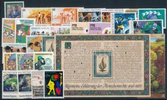 1987-1989 12 klf sor + 3 klf önálló érték + 1 blokk 1987-1989 12 sets + 3 stamps + 1 block