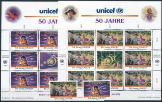 Unicef sor + kisívsor Unicef set + mini sheet set