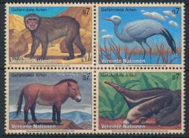 Animals block of 4, Állat négyestömb