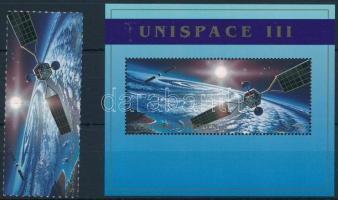 Space Exploration minisheet + pair + block, Űrkutatás kisív + pár + blokk