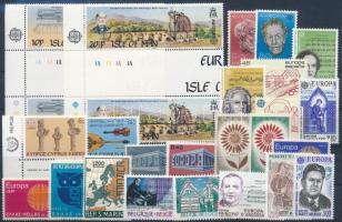 1969-1985 Europa CEPT 9 sets + 3 stamps, 1969-1985 Európa CEPT 9 klf sor + 3 klf önálló érték