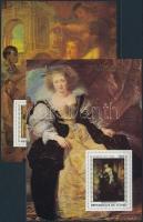 Rubens paintings set in blockform Rubens festmények sor blokk formában