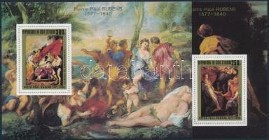 Rubens festmények sor blokk formában Rubens paintings set blockform