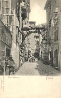 Fiume, Arco Romano / street with shop