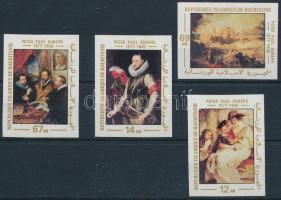 Rubens paintings impeforated set, Rubens festmény vágott sor