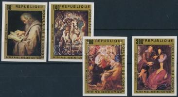 Rubens imperforate set Rubens vágott sor