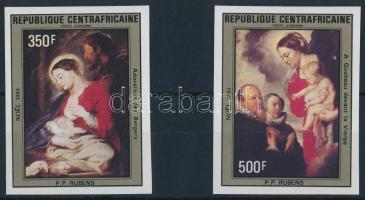 Rubens paintings closing values of the imperforate set Rubens festmény vágott sor záróértékei