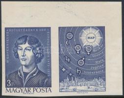 1973 Nikolausz Kopernikusz vágott ívsarki szelvényes bélyeg (3.000)