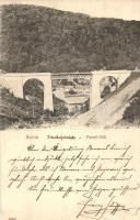 Anina, Stájerlakanina, Steierdorf; vasúti híd, hátoldalon osztrák portóval / railway bridge, viaduct