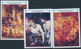 1996 Rubens festmények blokksor 11 értéke Mi 312-323