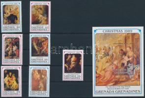 Rubens painting set + block, Rubens festmény sor + blokk