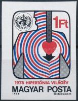 1978 Hipertónia Világév vágott bélyeg