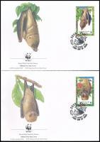 WWF: Denevérek sor 4 db FDC WWF Bats set 4 FDC