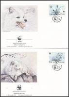 WWF: Sarki róka sor 4 db FDC WWF Arctic fox 4 FDC
