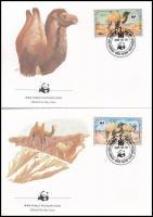 WWF Camel set on 4 FDC WWF: Teve sor 4 db FDC