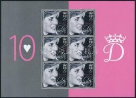 Princess Diana mini sheet set, Diana hercegnő halálának 10. évfordulója kisívsor