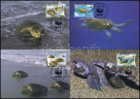 2001 WWF Fattyúteknős sor 4 db CM-en Mi 1899-1902