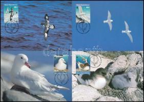 WWF Water birds of Antarctica set on 4 CM, WWF Az Antarktisz vízimadarai 4 db CM-en