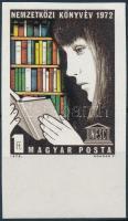 1972 Nemzetközi könyvév vágott ívszéli bélyeg