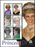 Diana hercegnő kisív Princess Diana minisheet