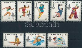 1980 Olimpia sor Mi 1093-1100