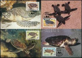 1983 WWF: Teknősök sor 4 db CM-en Mi 541-544