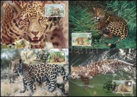 1983 WWF: Jaguárok sor 4 db CM-en Mi 719-722
