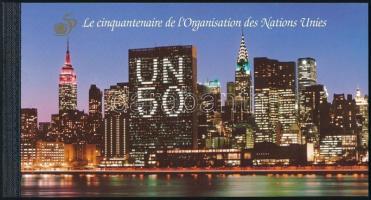 50 éves az ENSZ bélyegfüzet UN stampbooklet