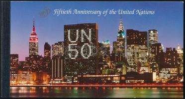 50 éves az ENSZ bélyegfüzet, UN stampbooklet