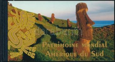 UNESCO Világörökség: Dél-Amerika bélyegfüzet UNESCO World Heritage, South America stampbooklet