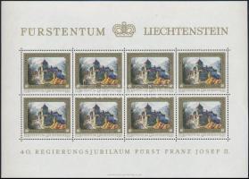 Franz Joseph II. Jubilee mini sheet set (4pcs) II. Ferenc József jubileuma kisívsor (4 kisív)